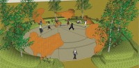 This is an artist's rendition of the proposed Peace Park.