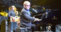 Elton John performs during a show at the Alliant Energy Center