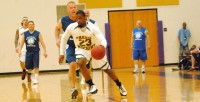 James Jones, a wide receiver for the Green Bay Packers, participated in a charity basketball game with the DeForest Lions Club on April 20.
