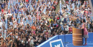 First lady Michelle Obama energized the audience and delegates at the Democratic National Convention.
