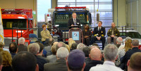 Dean Rick Raemisch speaks during the grand opening of the Protective Services building.