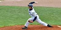 Madison College's Shane Alder pitches during the team's game with Elgin Community College on April 23.