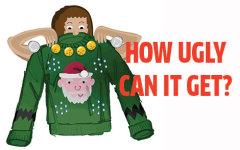 Bells, sequins, Santas, make an ugly sweater