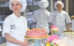 Event guests enjoy handcrafted desserts