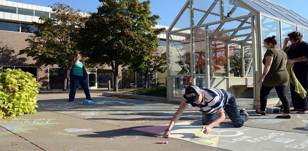 Chalk as a suicide prevention campaign