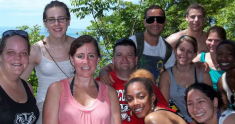 Students of Madison College studying abroad in Costa Rica.