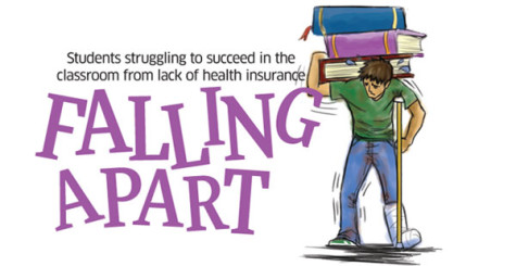Students struggle to succeed in classroom, lack of health insurance