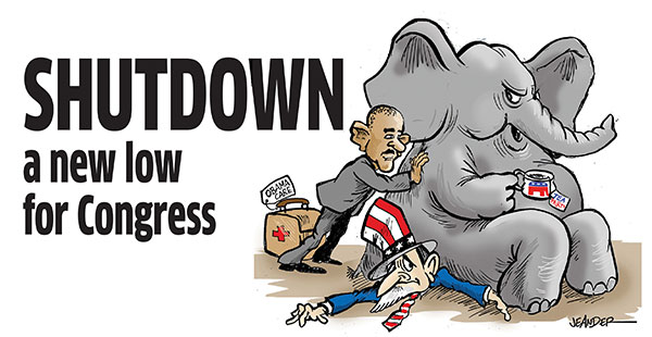 Shutdown is a new low for Congress