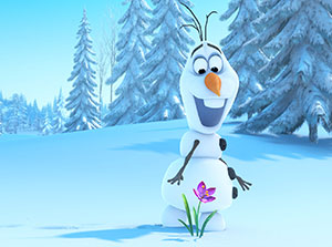 Olaf from the movie, 'Frozen.