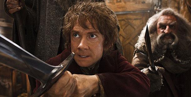 Martin Freeman portrays Bilbo, left, and John Callen as Oin in