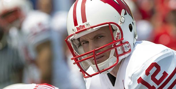 The+movie%2C+%22Draft+Day%2C%22+features+a+fictional+Wisconsin+quarterback+Bo+Callahan.