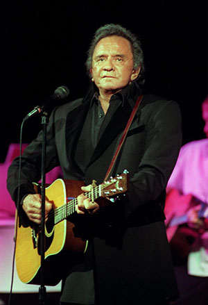 The late Johnny Cash is shown in a file photo.