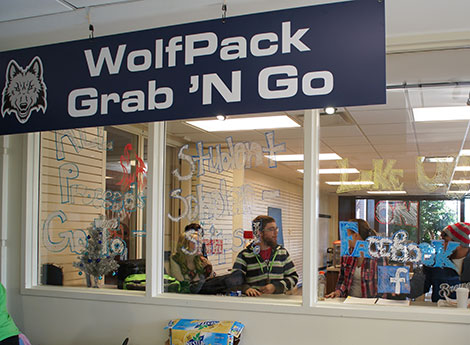 Coffee and other convenience items are available at the new Grab 'N' Go store at West Campus.