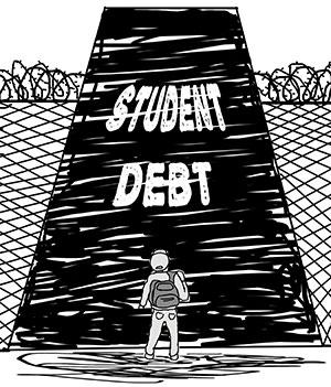 Student debt illustration