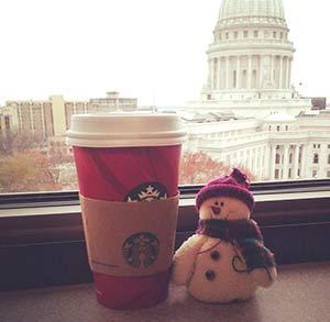 Starbuck's Chestnut Praline latte is a new favorite.