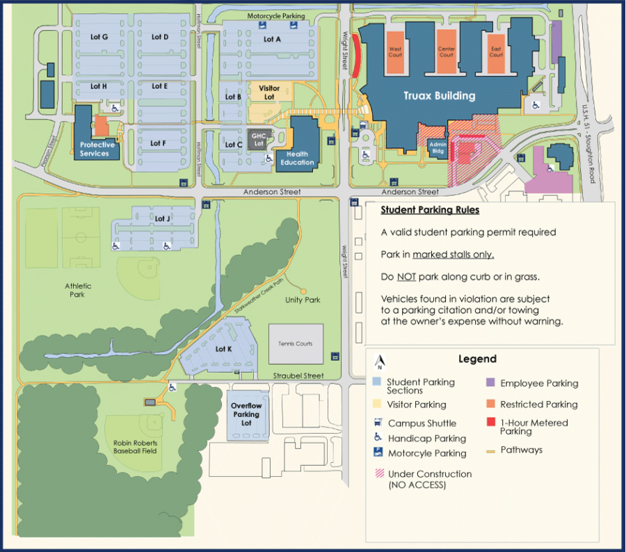 Matc Campus Map.Parking How To Do It Right At Truax The Clarion
