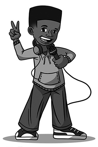 illustration of a rapper