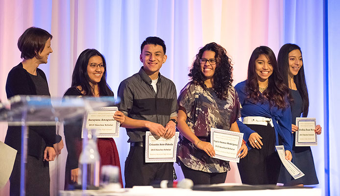 Sanchez scholar award winners are recognized at Central Hispano's Gala.