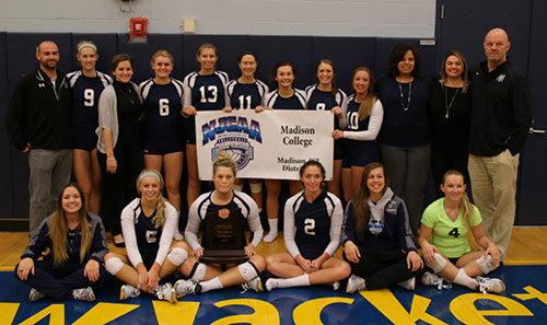 WolfPack volleyball placed third in the NJCAA division III National Tournament on Nov. 14 in Rochester, MN.
