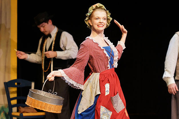 """Cinderella played by Stephanie Frank in """"Gadzooks! Cinderalla! (It ain't Shakespeare!)"""" at the Bartell Theatre."""