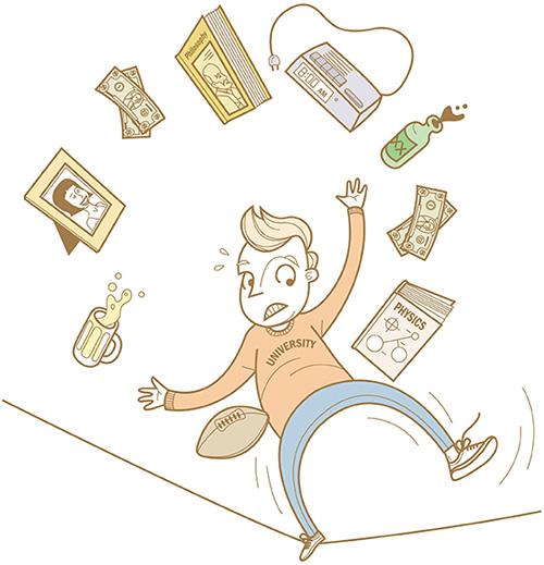 college stress illustration