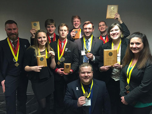 Madison College students get recognized for their leadership and management skills during the DECA statewide competition.