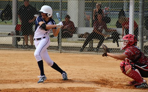 Madison College freshman softball player Brenna Seeber (3) prepares to slap the ball during a recent game on the team's Florida trip over spring break. The WolfPack's first home game of the season is scheduled for April 3.