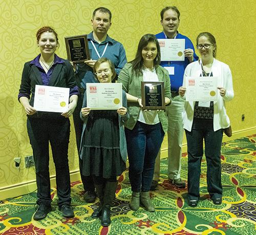 The Clarion staff won several awards at the Wisconsin Newspaper Association annual convention in Middleton.