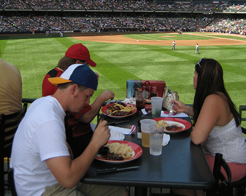 Fans who visit Miller Park will find plenty of food options and many other distractions, both good and bad, to keep them occupied.