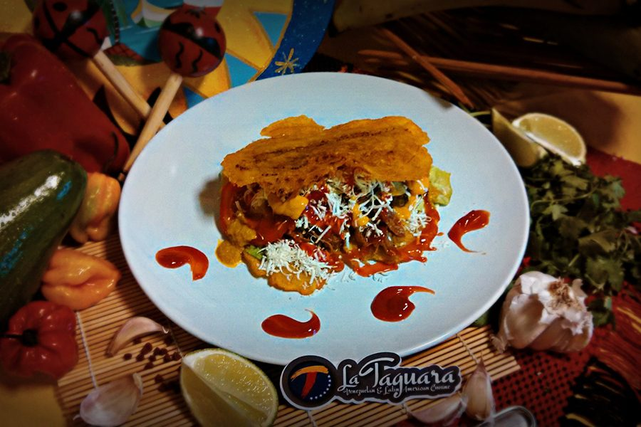 Patacon is one of the lunch specials at La Taguara