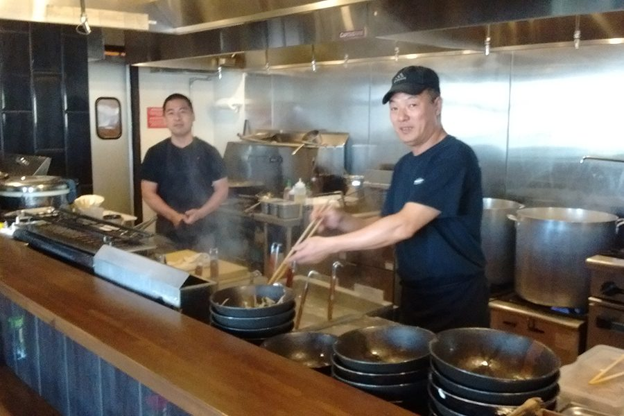 Ramen station is located in a former Cousins shop on South Park Street near downtown Madison and offers traditional Japanese ramen.