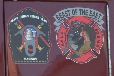 "Station 8, the one nearest Madison College, has a logo proclaiming the station ""The Beast of the East,"""