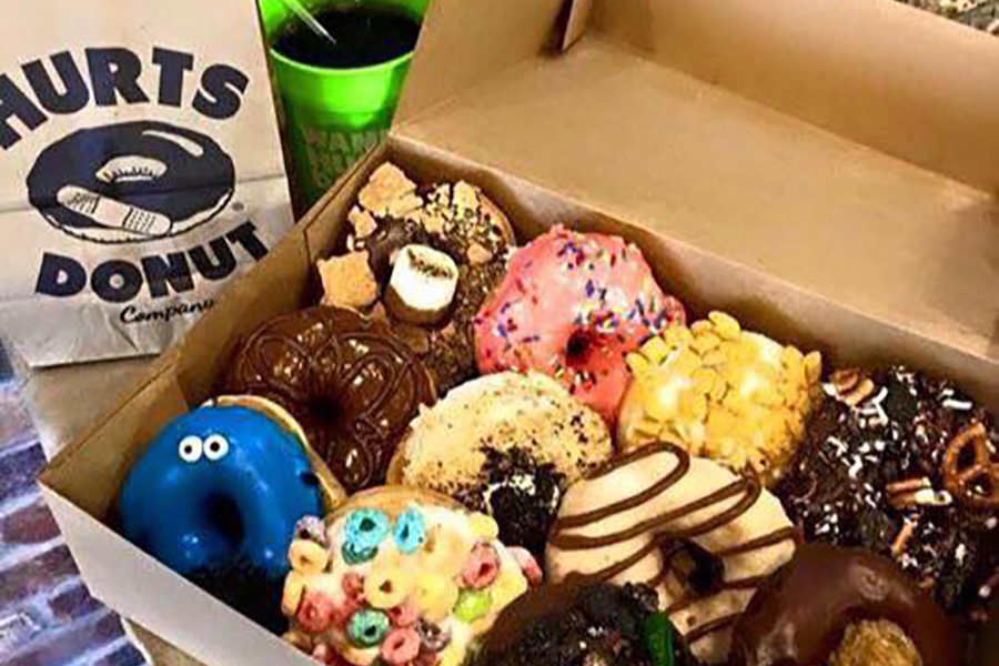 From Hurts Donut Company's Facebook Page (https://www.facebook.com/Hurts-Donut-Middleton-Wisconsin-308856442788591/)