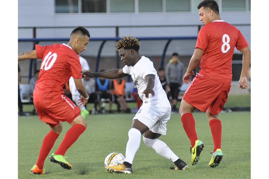 Men's soccer team opens season with home win over Malcom X