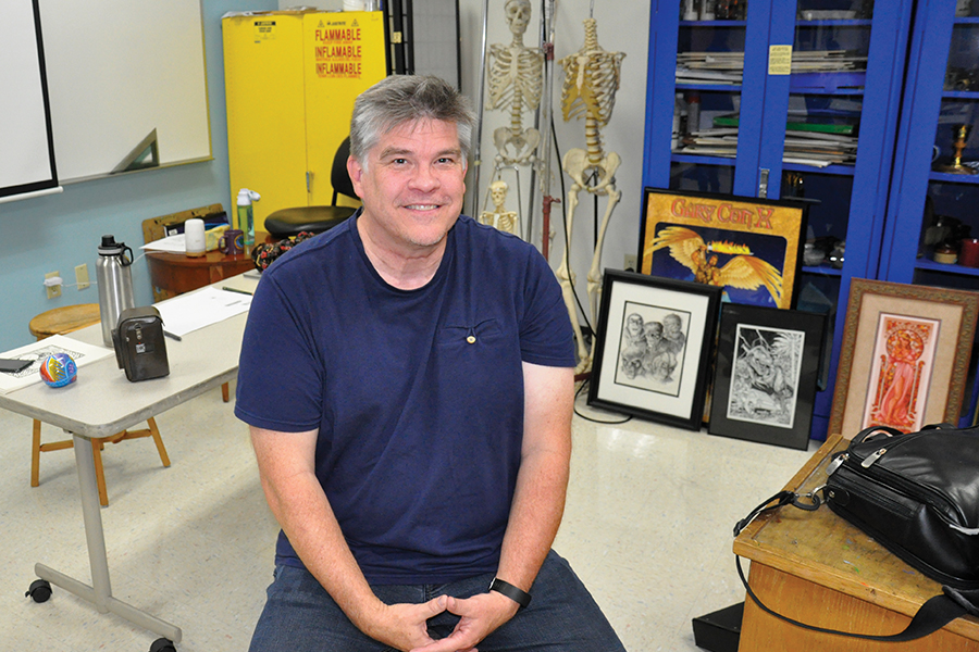 Madison College instructor Jeff Butler has been working with the comic book industry since the 1980s.