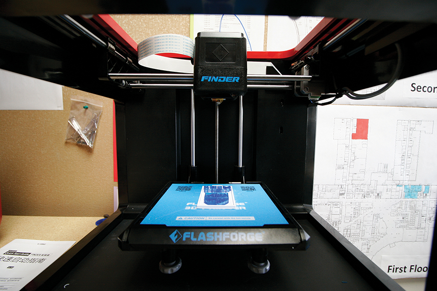 The Truax Camps STEM lab features new 3D printers. College officials are planning to add 3D Printers to an expanded Creator Studio, one that is technologically and disciplinary inclusive.