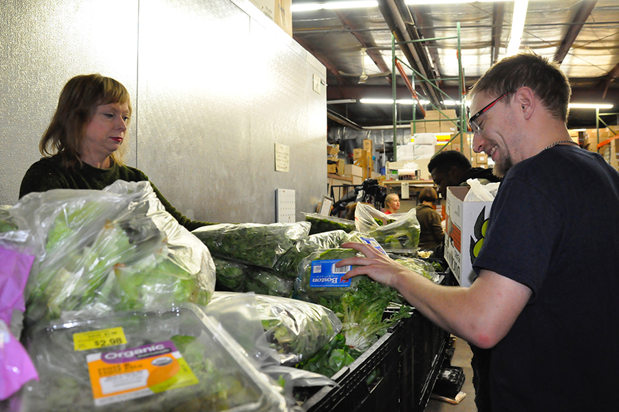 Madison College Student Senator Steven Ansorge visits River Food Pantry on Nov. 17.