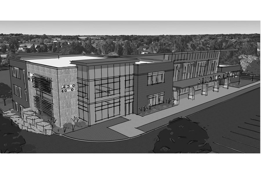 An artistic rendering depicts what an expanded South Campus building might look like when it opens by the 2019 fall semester. A $3 million donation and $3.5 million matching grant from Great Lakes Higher Education Corp. & Affiliates ensures that Madison College will be able to complete all three phases on the project.