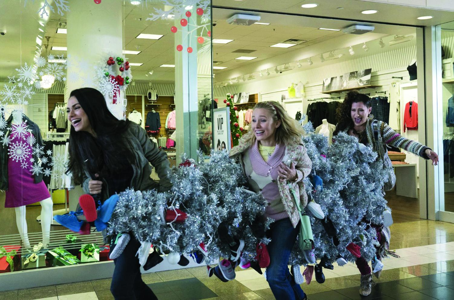 Mila Kunis, from left, Kristen Bell and Kathryn Hahn decide to do the holidays their own way in
