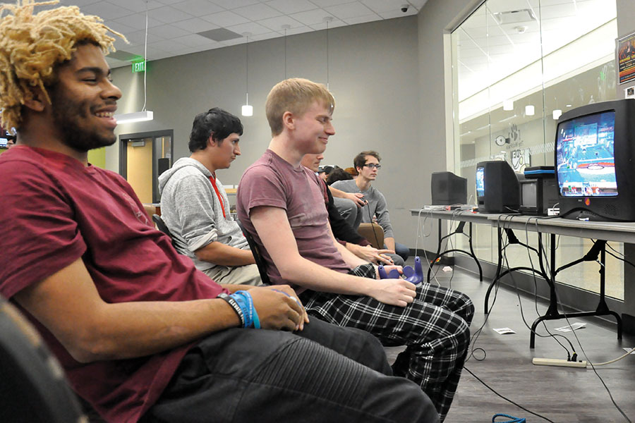 Members of Madison College's Smash Club compete in