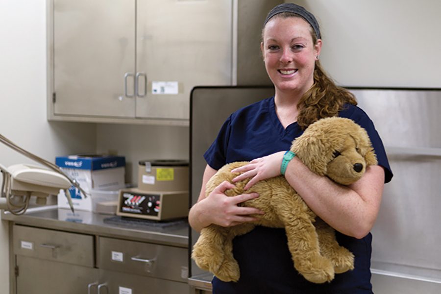 Madison College student Ashley Hermanson is in the college's Vet Tech program and will graduate this May.