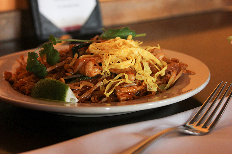 Sa Bai Thong's Pad Thai is one of the favorites from the menu.
