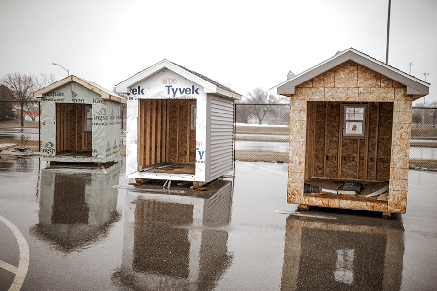 Madison College students are building tiny homes as part of their course curriculum in the Construction and Remodeling Program.