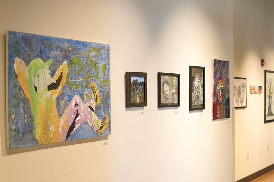 The Yahara Journal Art Show is now on display in the Truax Gallery. It features the artwork of 53 Madison College students.