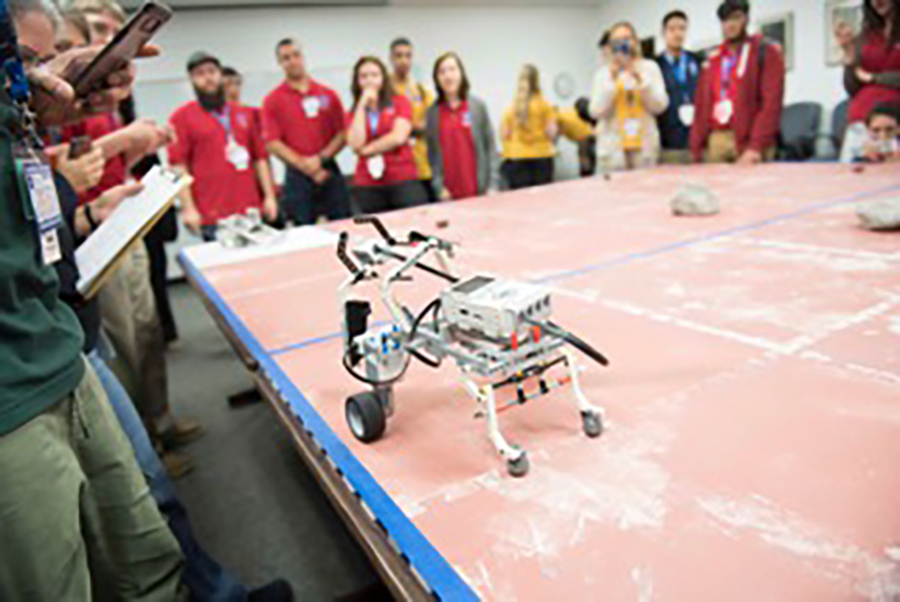 Students had the opportunity to build a Mars rover at the NASA Center in Virginia.