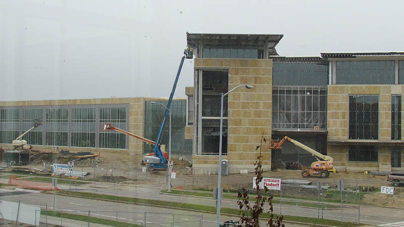 Madison College building under construction
