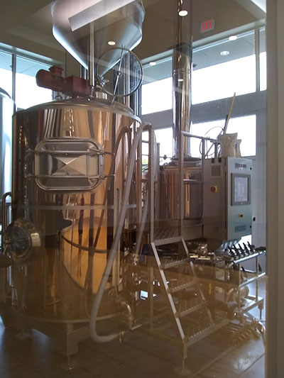 Brewing beer is hard work, look at all the machinery it takes