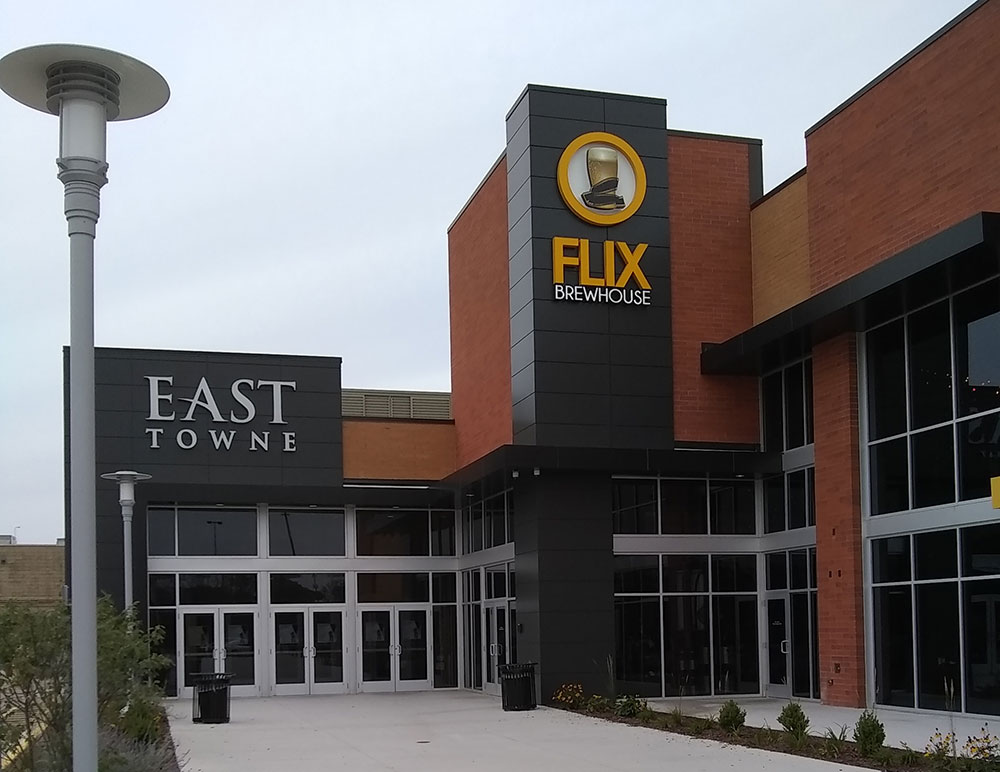 Flix Brewhouse is one of the newest offerings at East Towne Mall.