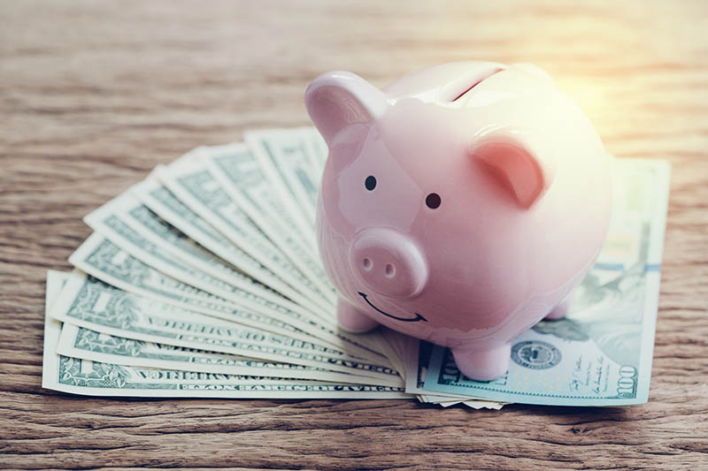 Save money while in college, put it in your piggybank