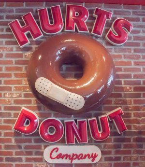 Comical and delicious, Hurts Donuts is the perfect treat for those looking to help the Madison Needs Network